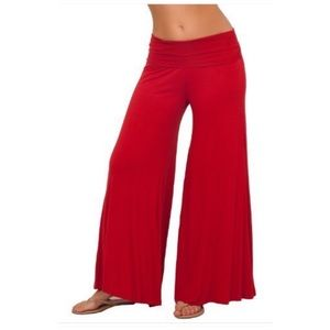 Red Wide Leg Palazzo Yoga Lounge Pant Size XL